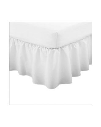 luxurious plain dyed fitted valance sheet